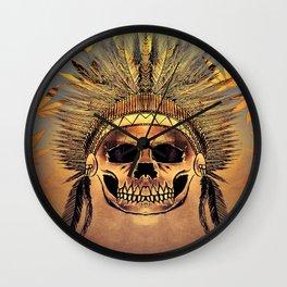 indian junga skull Wall Clock