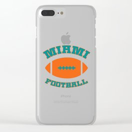 Miami Football Clear iPhone Case