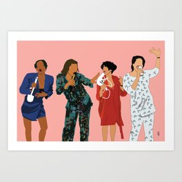 Living Single 90's TV Classic Art Print