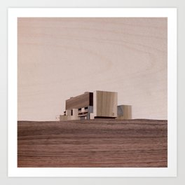 Torness Nuclear Power Station   Marquetry Art Print