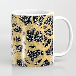 Abstract Beehive Yellow & Black Pattern Coffee Mug