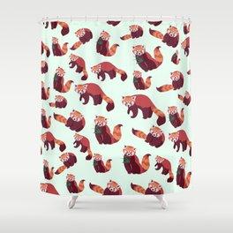 Red Panda Pattern Shower Curtain