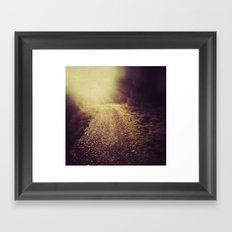 A Darkness, Vanishing Framed Art Print