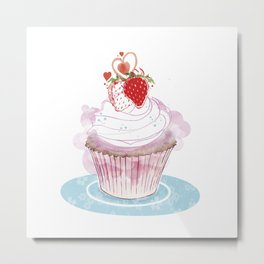 Strawberry Cupcake  Metal Print