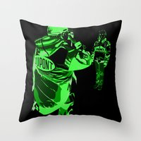 racing Throw Pillows featuring Racing Fans by Umbrella Design