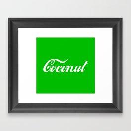 Coconut Framed Art Print