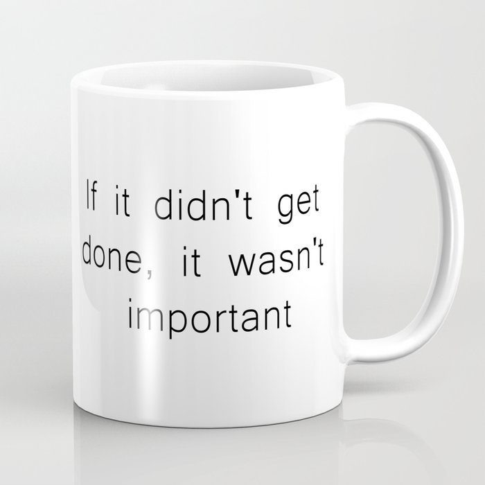 The Procrastinator's Creed Coffee Mug