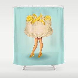 Cake Girl - Lemon Shower Curtain