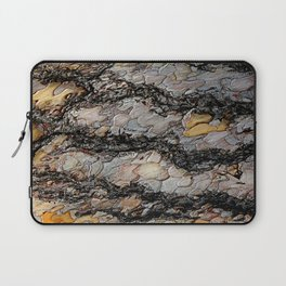 A world of textures, shapes and colors in a simple tree bark | Nature Photography Laptop Sleeve