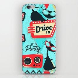 Retro Party Kitties V.01 iPhone Skin