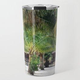 Bungalows on Palm Beach Travel Mug