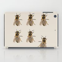 bees iPad Cases featuring Bees  by Cécile Pellerin
