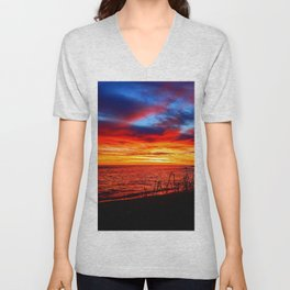 Red Sea at Dawn Unisex V-Neck