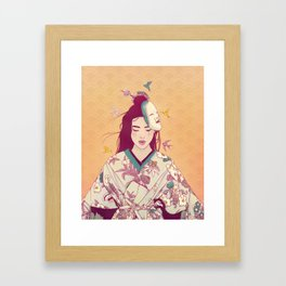 Origami Lady Framed Art Print