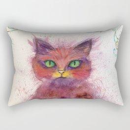 Green Eyes Colorful Cat Rectangular Pillow