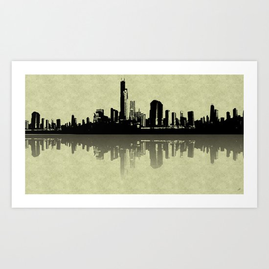 Skyline Reflections Art Print