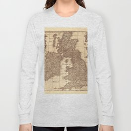 Map Of Great Britain 1631 Long Sleeve T-shirt