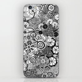 Growth in 3 Directions - Black and White iPhone Skin