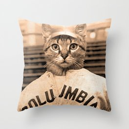 Baseball Kitten #2 Throw Pillow