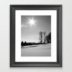 Snow Scape III Framed Art Print