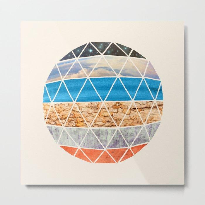 Eco Geodesic  Metal Print
