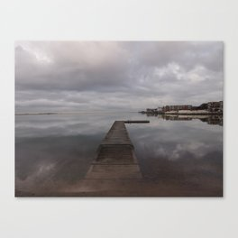Pier in Winter Canvas Print