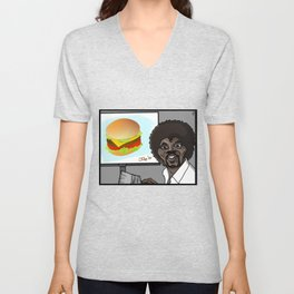 This Is A Happy Burger... Unisex V-Neck