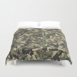 Forest alcohol camouflage Duvet Cover