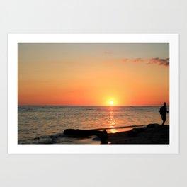 Dominican Sunset Art Print