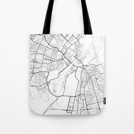 Copenhagen Denmark Street Map Minimal Tote Bag
