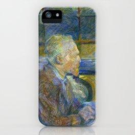 Portrait of Vincent Van Gogh by Toulouse Lautrec iPhone Case