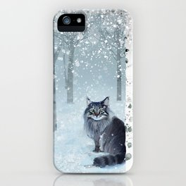 Norwegian Winter Forest iPhone Case