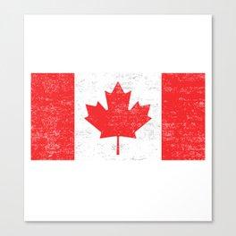 Canada flag , Vintage Canadian Flag  Canvas Print