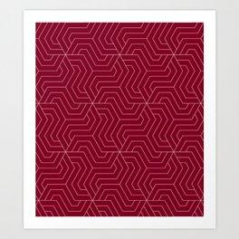 Oxblood - purple - Modern Vector Seamless Pattern Art Print