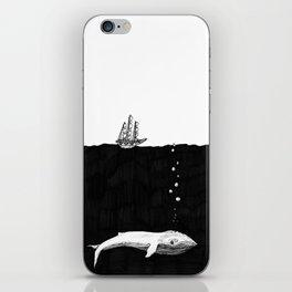 Big Whale, Little Boat iPhone Skin