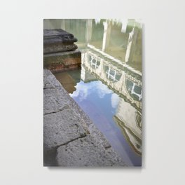 Roman Baths Reflection Metal Print