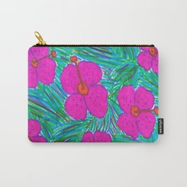 Hawaii Dreams Hibiscus Print Carry-All Pouch