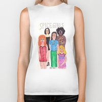 spice girls Biker Tanks featuring The Spice Girls by Angela Dalinger