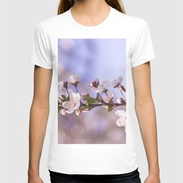 Branch of White Spring Flowers T-shirt