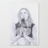 wwe Canvas Prints featuring WWE AJ LEE by Emma Thamer