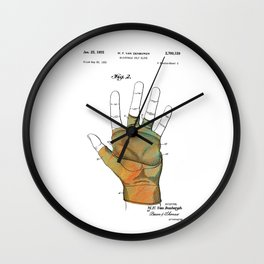 Golf Glove Patent 1955 Wall Clock