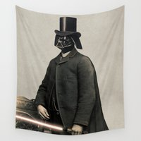 star lord Wall Tapestries featuring Lord Vadersworth  - square format by Terry Fan