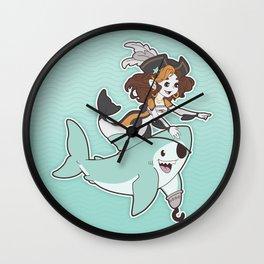 Mermaid & Shark Pirates Wall Clock
