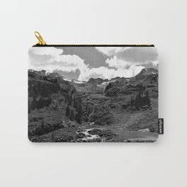 chairlift river kaunertal alps tyrol austria europe black white Carry-All Pouch