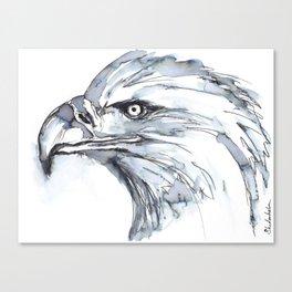 Eagle Portrait (Watercolor Sketch) Canvas Print