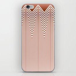 Art Deco Geometric Arrowhead Dusty Peach Design iPhone Skin