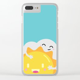 Partly Cloudy and Partly Sunny Love Clear iPhone Case