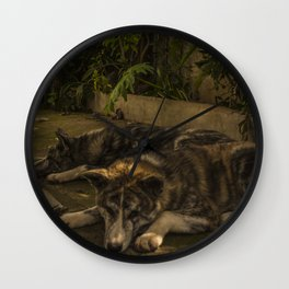 Gengis and Fenris Wall Clock