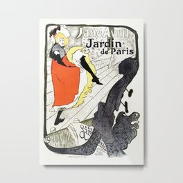 Jane Avril French can-can Jardin de Paris Metal Print