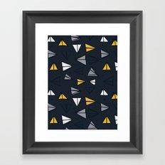 Triangle Trail Framed Art Print